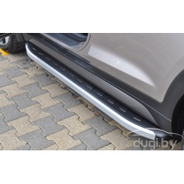 "Подножки ""Newstar Grey"" для Volvo XC90 2015-..."
