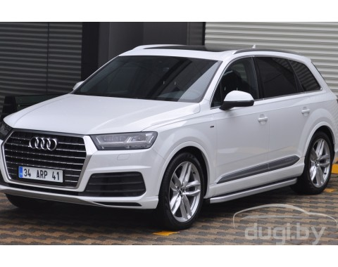 "Подножки ""Newstar Grey"" для Q7 (2015-...)."