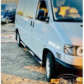 """Пороги трубы """"Delux"""" для Volkswagen T4 длинная база"""