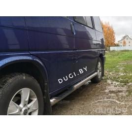 "Пороги - трубы ""Delux"" для Volkswagen T4 (к.б.)."